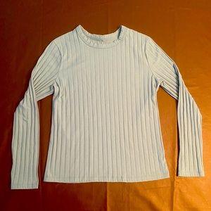 Women's pleated long sleeve top